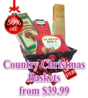 Country Christmas Gift Basket Collection
