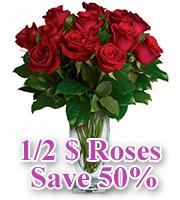 1/2 $ Roses