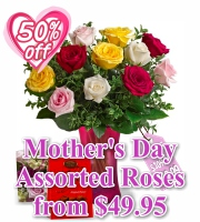 Mothers Day Assorted Roses