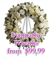 Sympathy Wreaths and Sprays