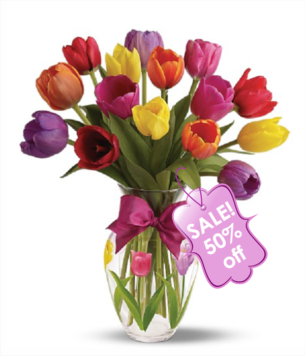 15 Assorted Tulips
