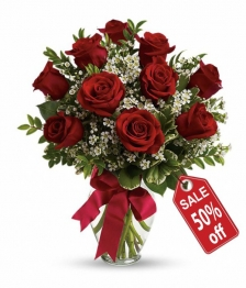 10 Long Stemmed Red Roses