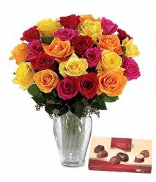 24 Mixed Roses Super Special