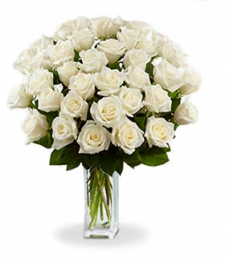 36 Long Stemmed White Roses