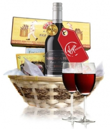 Virgin Red Wine & Cheese Hamper