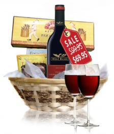 Deluxe Red Wine & Cheese Hamper