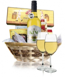 White Wine & Cheese Hamper