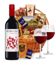 Classic Red Wine Basket