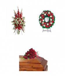 Pure Devotion Funeral Flower Package