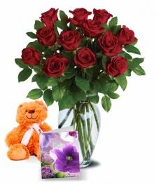 12 Sweetheart Roses II