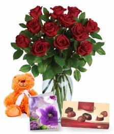 12 Sweetheart Roses III