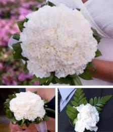 10 Piece Carnation Wedding Flower Package