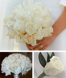 10 Piece Rose Wedding Flower Package