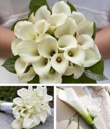 10 Piece Mini Calla Lily Wedding Flower Package