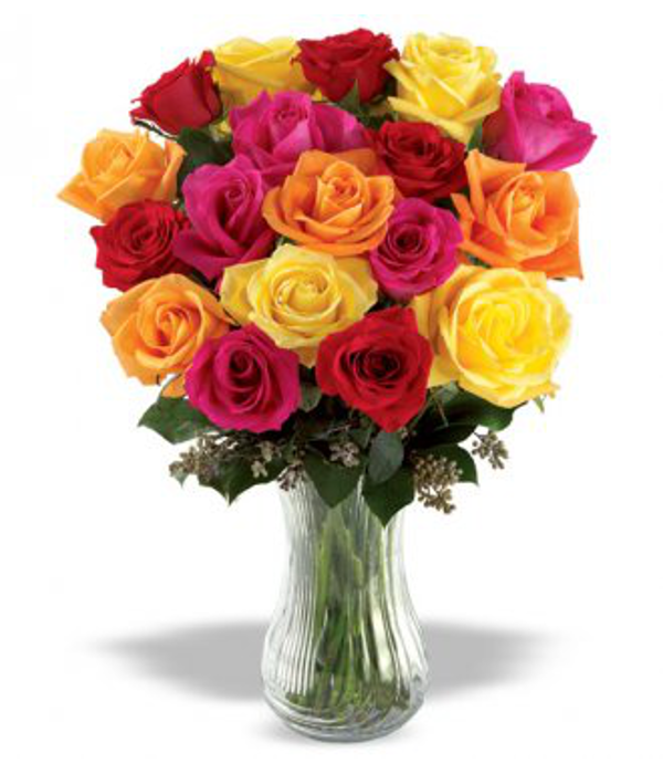 18 Long Stemmed Mixed Roses