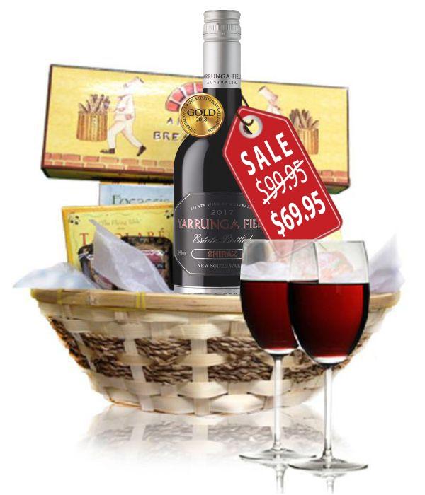 Deluxe Red Wine & Cheese Hamper