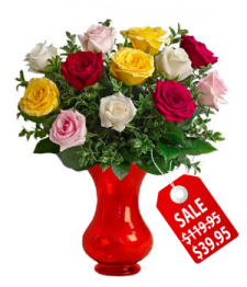 12 Assorted Roses Special