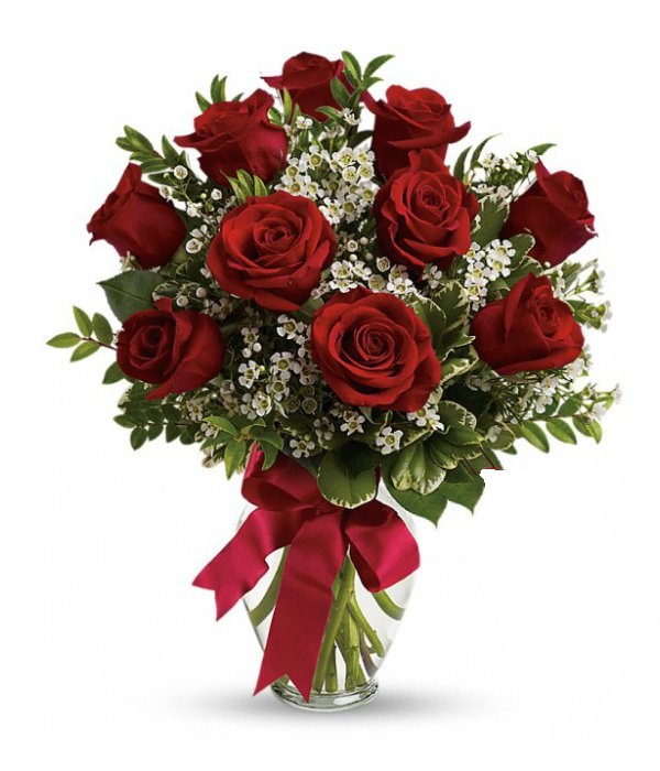 Ten Long Stemmed Red Roses