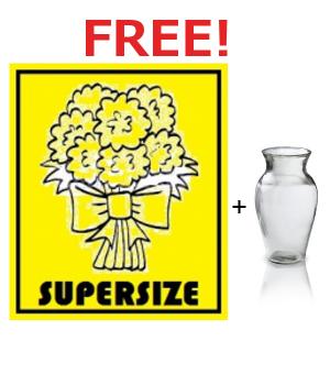 Free SUPERSIZE & Vase